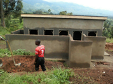 Five stance lined pit latrine for girls