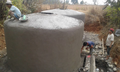 The finishing touches to the reservoir tanks in Damar